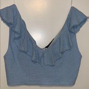 Brand new tweed off shoulder crop top
